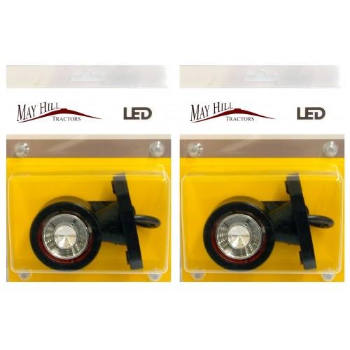 One Pair Of Led Side Marker Lights Red White 12 24v