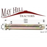 """Tractor Cat 1 Lower Link Pin Ø: 7/8"""". Working Length: 116mm. Length: 152mm."""