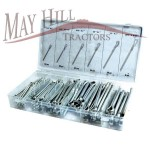 "Assorted Split Pin Set - 144pcs - Ø1/8"" x 2"" to 5/16"" x 2. 1/2"""