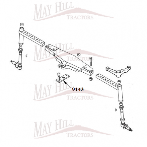 585 Hay Rake Parts : Case international wd power steering ram bracket