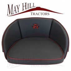 Massey Ferguson One Piece Seat Cushion Embroided MF Triangle