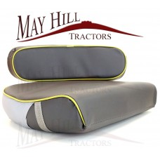 Massey Ferguson 35 135 2135 165 3165 Seat Cushion & Back Rest Set Grey/Yellow