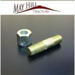 "Massey Ferguson FE 35 Tractor Exhaust Manifold Stud & Nut 3/8"" UNC"