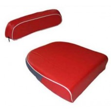 David Brown Seat Cushion and Back Rest (Red & White)