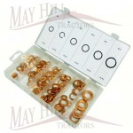 Metric Copper Washer Kit various 110 pcs