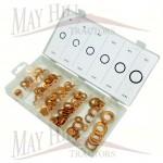 Metric Copper Washer Kit various 110 pcs