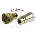 "One Pair - Hydraulic Quick Release Coupling 1/2"" BSP Male & Female"