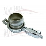 "Male Coupling with Threaded end 6"" Galvanised B for Bauer Slurry Equipment"