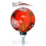12v Lollipop Type Light Red/Orange Lens Plastic 106mm OD